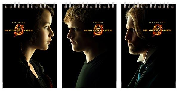 Купить наборы маленьких универсальных блокнотов Hunger Games