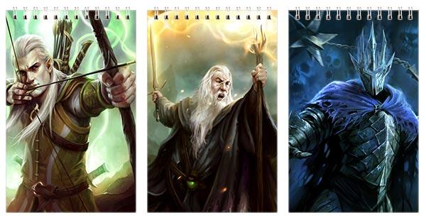 Купить наборы маленьких универсальных блокнотов Lord of the Rings