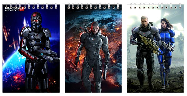 Купить наборы маленьких универсальных блокнотов Mass Effect