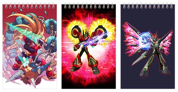 Набор маленьких универсальных блокнотов Mega Man