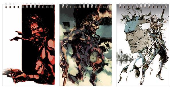 Купить наборы маленьких универсальных блокнотов Metal Gear Solid