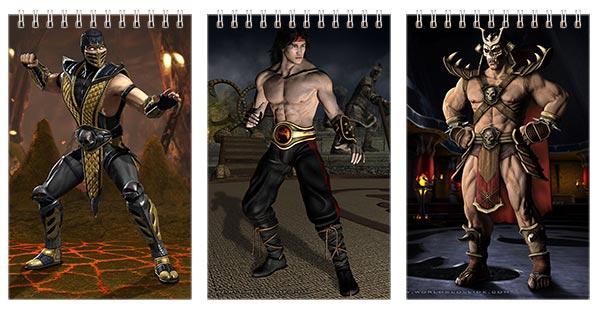 Купить наборы маленьких универсальных блокнотов Mortal Kombat