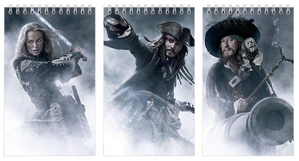Купить наборы маленьких универсальных блокнотов Pirates of the Caribbean