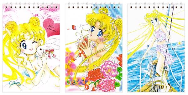 Набор маленьких универсальных блокнотов Sailor Moon