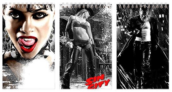 Купить наборы маленьких универсальных блокнотов Sin City