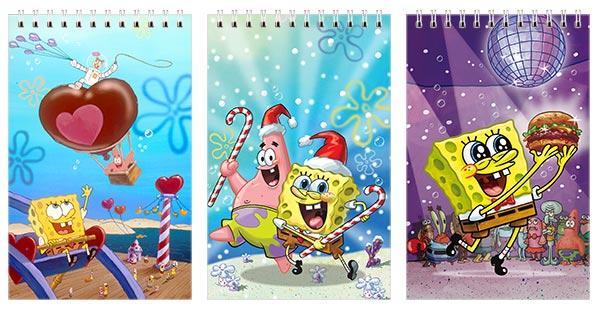 Купить наборы маленьких универсальных блокнотов SpongeBob Squarepants