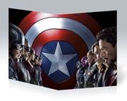 Тонкая школьная тетрадь Captain America