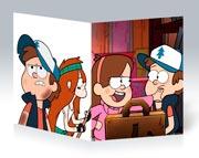 Купить тонкие школьные тетради Gravity Falls