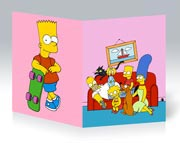 Тонкая школьная тетрадь Simpsons