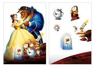 Школьный альбом для рисования Beauty and the Beast