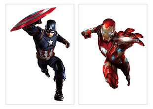 Школьный альбом для рисования Captain America