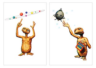 Школьный альбом для рисования E.T. The Extra-Terrestrial