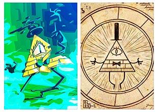 Купить школьные альбомы для рисования Gravity Falls