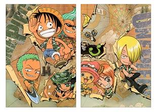 Школьный альбом для рисования по аниме/манге One Piece