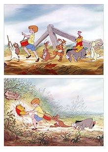 Школьный альбом для рисования по аниме/манге Winnie the Pooh